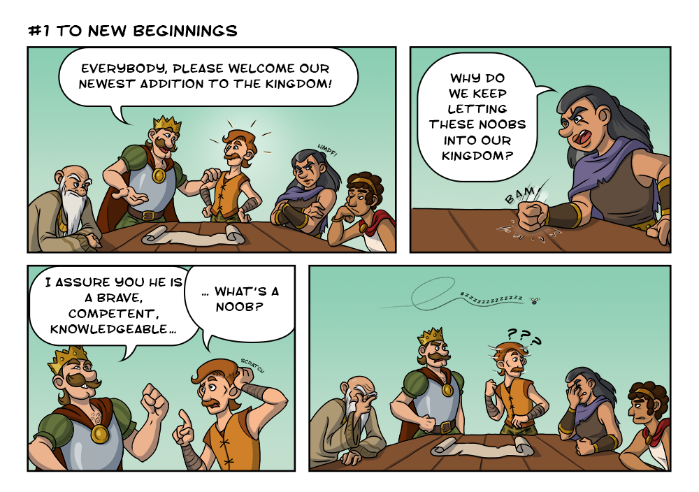 Kingdoms Comic Strip # 1.1 - to new beginnings