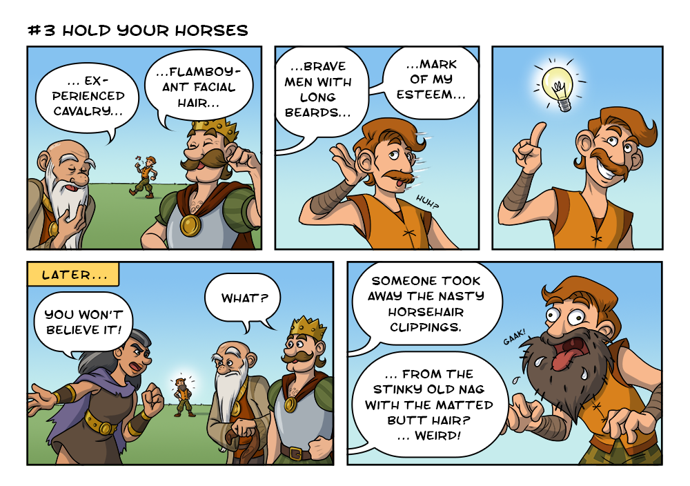 Kingdoms comic strip #3 - Hold your horses